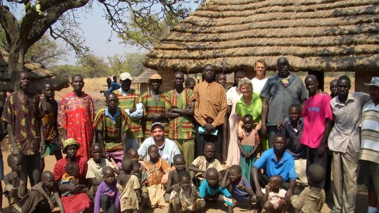 Monika Grütters in Rumbek/Sudan im Februar 2006. Foto: privat