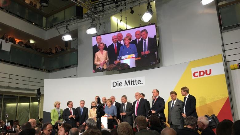 Wahlabend in der CDU-Bundesgeschäftsstelle. Foto: Diana Tuppack