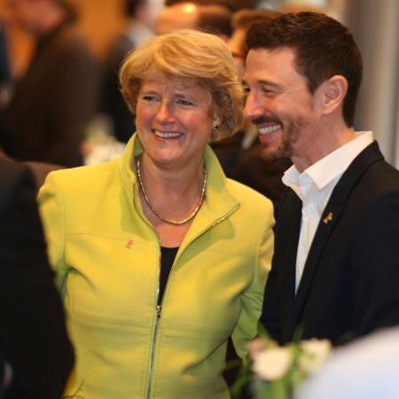 Monika Grütters und Oliver Berben beim Filmpolitischen Empfang der Jungen Union Deutschlands