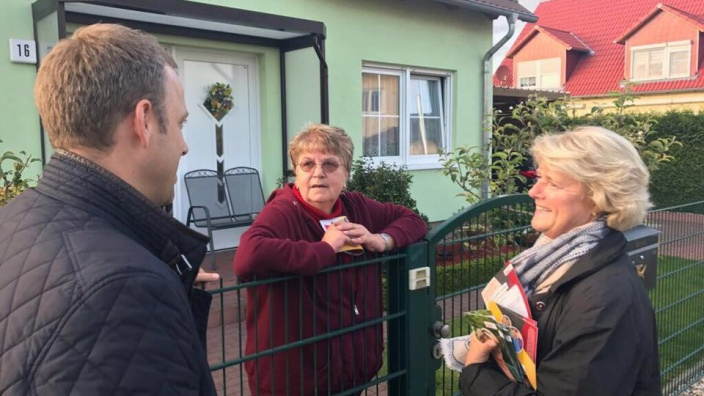 Haustür-Wahlkampf. Foto: CDU Wuhletal