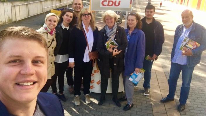 Canvassing im Wahlkreis Marzahn-Hellersdorf. Foto: CDU Wuhletal