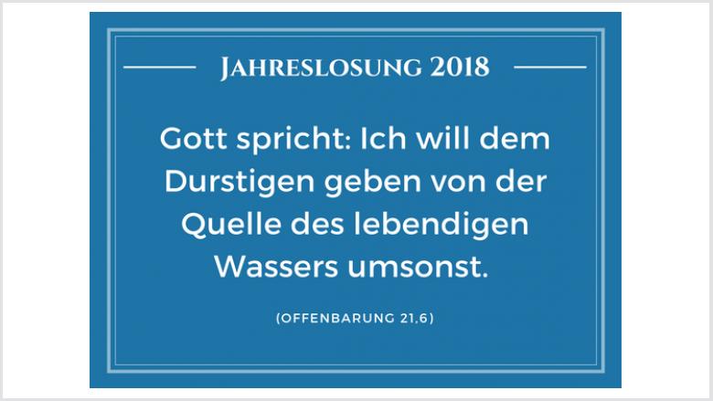 Jahreslosung 2018.