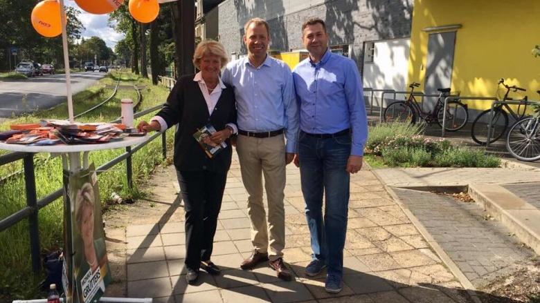 Canvassing im Wahlkreis Marzahn-Hellersdorf