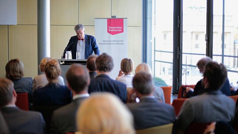 Prof. Christian Höppner (Präsident des Deutschen Kulturrates). Foto: Janne Litzenberger