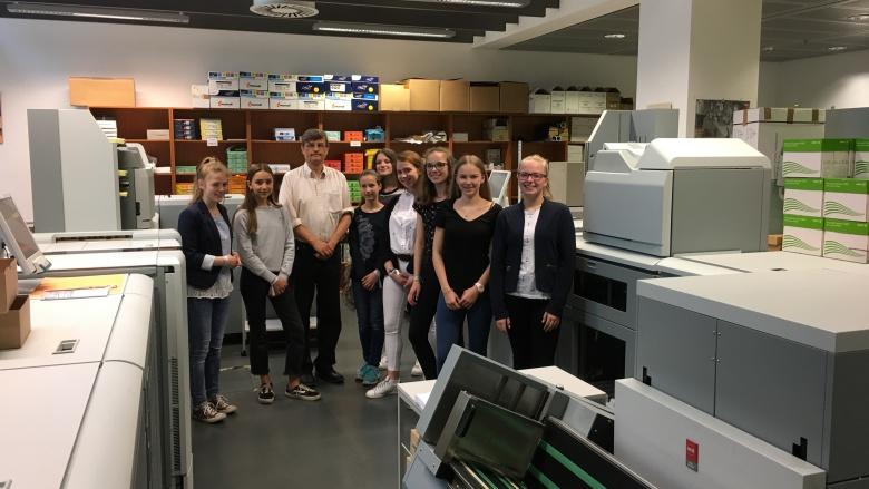 Besuch der Druckerei der CDU/CSU-Bundestagsfraktion. Foto: Diana Tuppack