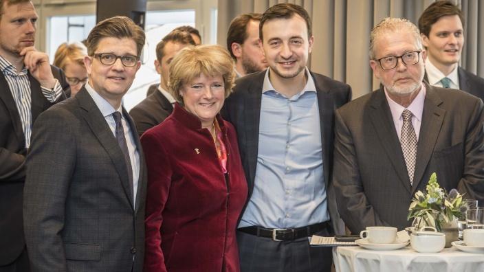 Eckart von Klaeden, Monika Grütters, Paul Ziemiak, Martin Moszkowicz [v.l.n.r.]. Foto: Jens Oellermann | http://oellermann.de