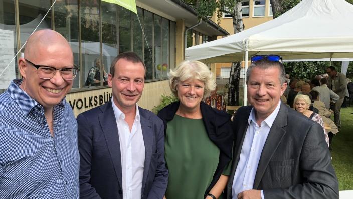 Robbin Juhnke MdA, Dr. Torsten Wöhlert (Staatssekretär für Kultur), Monika Grütters, Christian Goiny MdA. Foto: Meiko Keller