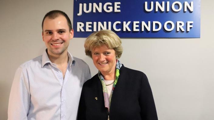 Diskussion mit der Jungen Union Reinickendorf und der Schüler Union Reinickendorf. Foto: Diana Tuppack
