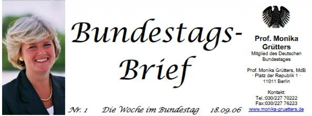 Bundestagsbrief Nr. 1