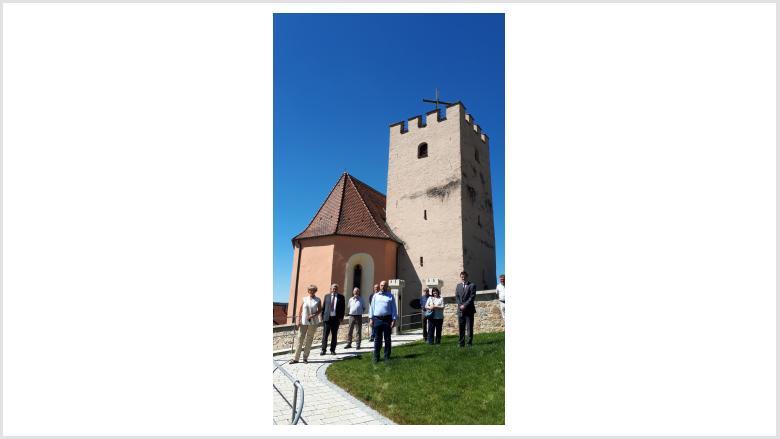 Besuch des Sachsenturms und der Versöhnungskapelle Trausnitz am 22. Juli 2020. Foto: Büro Prof. Monika Grütters MdB