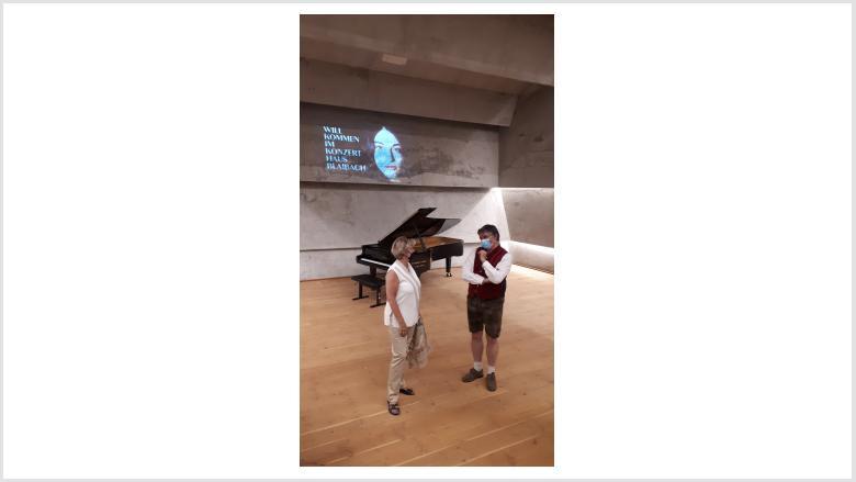 Besuch des Konzerthauses Blaibach am 22. Juli 2020. Foto: Büro Prof. Monika Grütters
