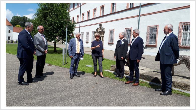 Besuch des ehemaligen Bendiktinerklosters Michelfeld am 21. Juli 2020. Foto: Büro Prof. Monika Grütters MdB