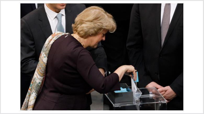 Wahl der Bundeskanzlerin im Deutschen Bundestag. Foto: Tobias Koch