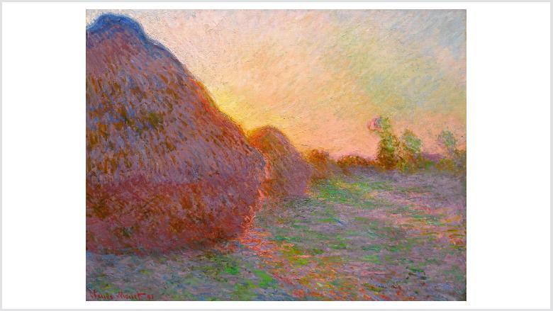 Claude Monet, Getreideschober, 1890, Öl auf Leinwand, 73 x 92,5 cm, Sammlung Hasso Plattner