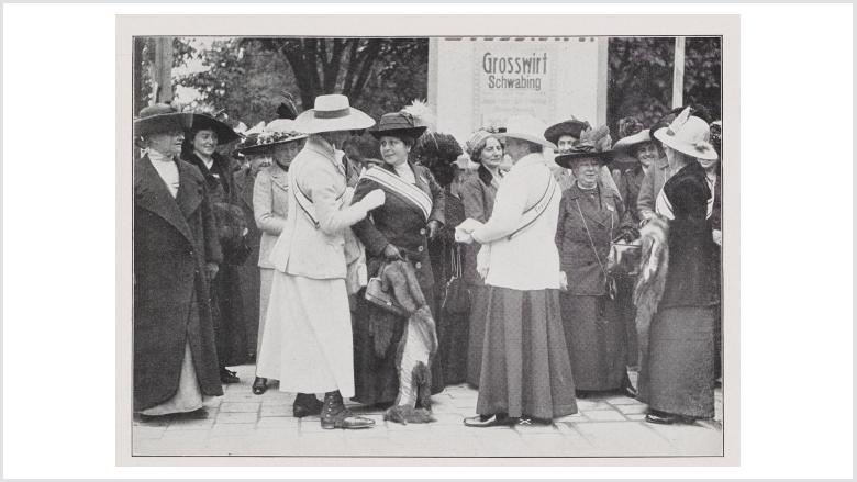 Teilnehmerinnen des Frauenstimmrechtskongresses am 3.10.1912 © Deutsches Historisches Museum