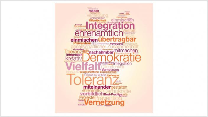 Aktiv-Wettbewerb Tagcloud 2016. Foto: BpB | Geschäftsstelle des Bündnisses für Demokratie und Toleranz