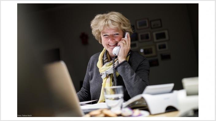Monika Grütters bei #fragCDU. Foto: Tobias Koch