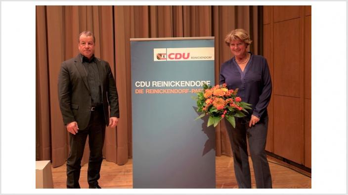 Monika Grütters und Frank Balzer (Kreisvorsitzender der CDU Reinickendorf und Bezirksbürgermeister von Reinickendorf) | Foto: Richard Gamp