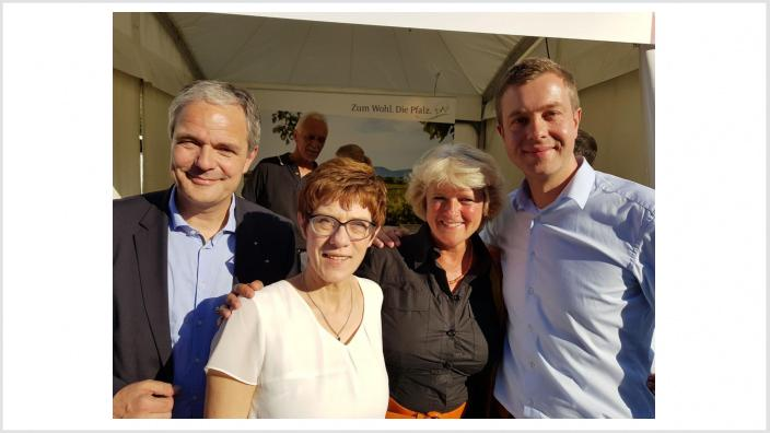Burkard Dregger, Annegret Kramp-Karrenbauer, Monika Grütters, Stefan Evers [v.l.n.r.]. Foto: Meiko Keller