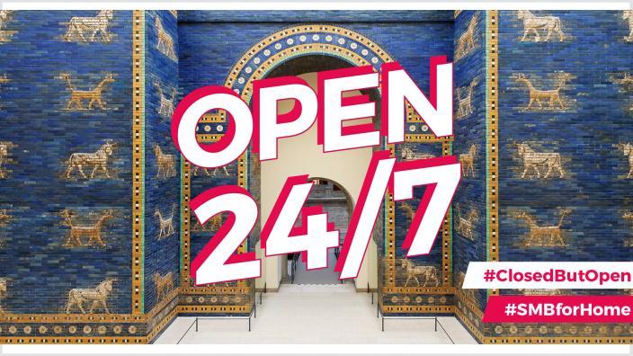 OPEN 24/7 | #SMBforHome | Das Ischtar-Tor im Pergamonmuseum © Staatliche Museen zu Berlin, Vorderasiatisches Museum / Olaf M. Teßmer